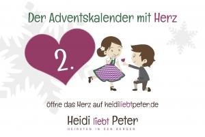 Adventskalender mit Herz - 2.Dez...