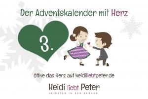 Adventskalender mit Herz - 3. Dez...